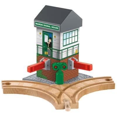 Fisher-Price Thomas & Friends Wooden Railway Maron Lights and Sounds Signal Shed