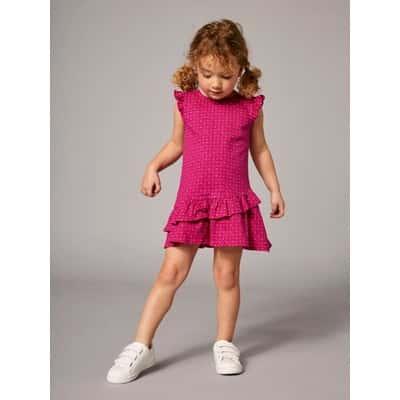 ドレス-ピンクブライトオールオーバープリント