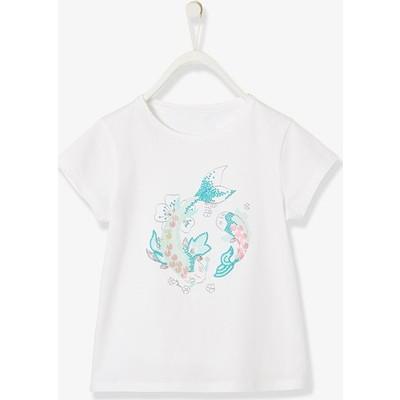 Tシャツ, Exotic フィッシュシークイン & グリッター - ホワイト ライト ソリッド