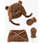 Vertbaudet/ヴェルボデ  Girls Chapka Snood & Mittens Set