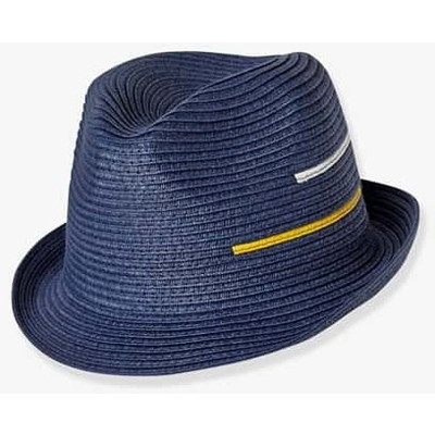 Occasionwear Hat - blue dark solid with design