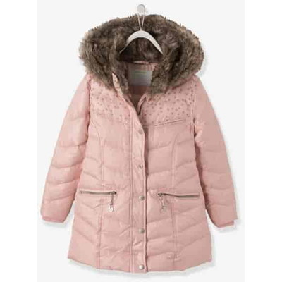 Girls' Hooded Padded ジャケット - pink medium