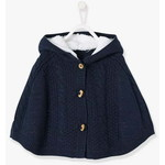 Vertbaudet/ヴェルボデ Baby Girls Hooded Iridescent Knit ポンチョ