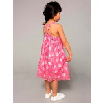 Vertbaudet/ヴェルボデ Girls Printed Occasion Dress - pink bright all over printed