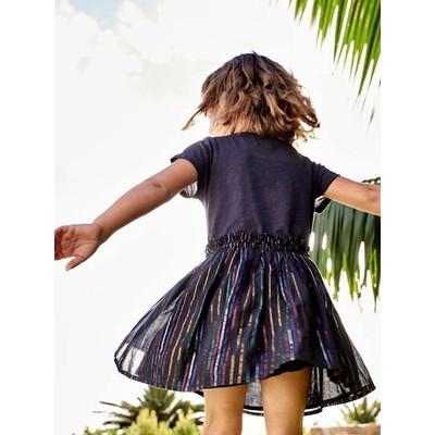 ドレス - blue dark striped