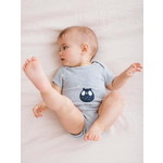 Vertbaudet/ヴェルボデ 半袖 ボディースーツ for babies in pure cotton - grey light mixed color