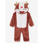 Vertbaudet/ヴェルボデ Christmas Reindeer Jumpsuit, for Babies