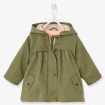 Vertbaudet/ヴェルボデ 3-in-1 Parka with Detachable Bodywarmer, for Baby Girls - green dark solid