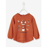 Vertbaudet/ヴェルボデ Top with Decorative Appliques, for Baby Girls