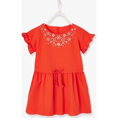ショートスリーブ ドレス - オレンジ ブライト ソリッド