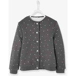 Vertbaudet/ヴェルボデ Lined Fleece カーディガン - grey dark all over printed