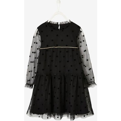 Vertbaudet/ヴェルボデ Plumetis Dress - black
