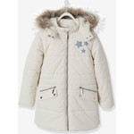 Vertbaudet/ヴェルボデ Long Parka, with Hood & Applied Stars - white