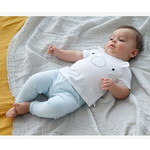 Vertbaudet/ヴェルボデ T-Shirt-Bodysuit and Trouser Ensemble for Newborn Babies, Smiley Face Motif