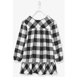 Vertbaudet/ヴェルボデ Chequered ドレス  Frilled Hem - black dark checks