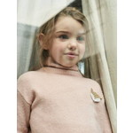 Vertbaudet/ヴェルボデ Polo-Neck Jumper with Glittery Fox Badge for Girls - ピンク